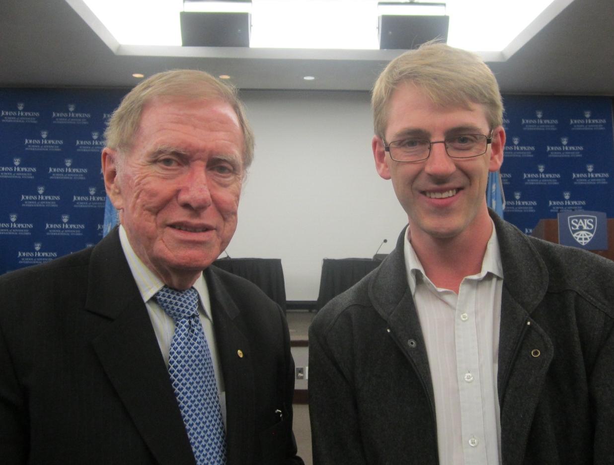 With Michael Kirby, Michael Cornish, Washington DC, October 2013